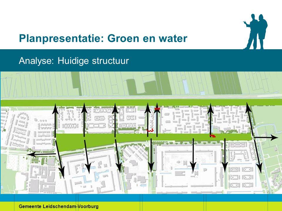 Gemeente Leidschendam-Voorburg Planpresentatie: Groen en water Analyse: Huidige structuur