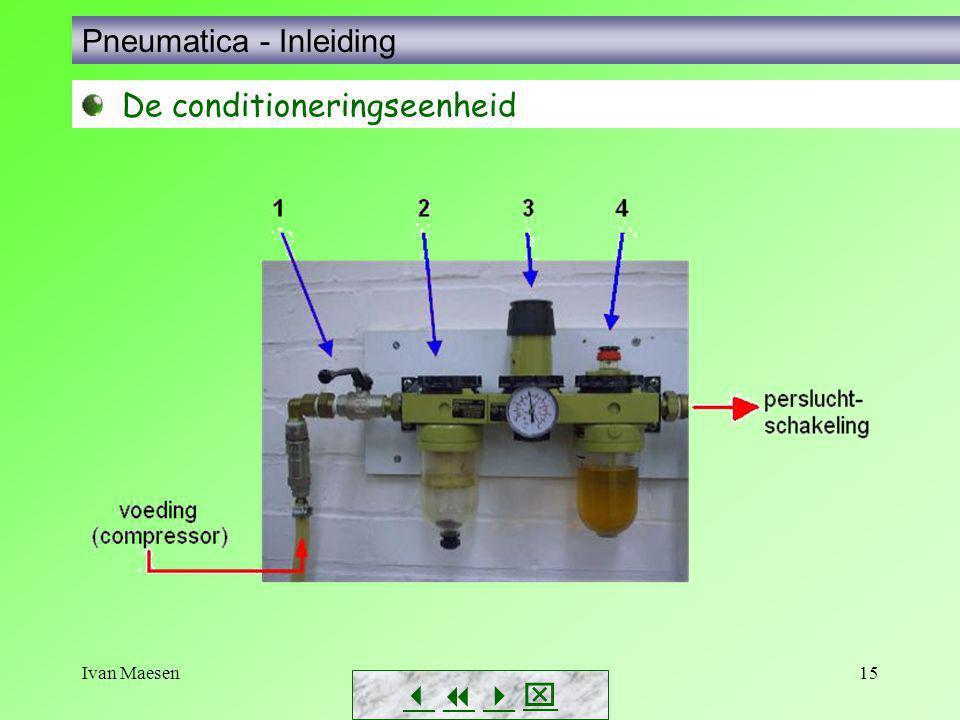 Ivan Maesen15        Pneumatica - Inleiding De conditioneringseenheid