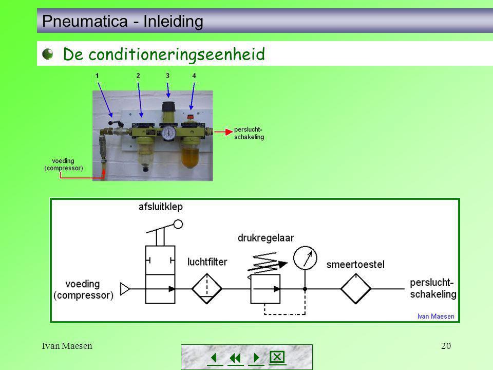Ivan Maesen20        Pneumatica - Inleiding De conditioneringseenheid