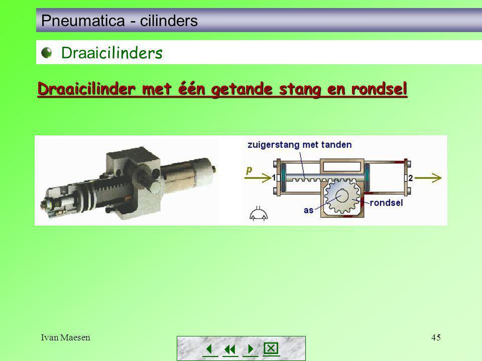 Ivan Maesen45        Pneumatica - cilinders Draai cilinders Draaicilinder met één getande stang en rondsel