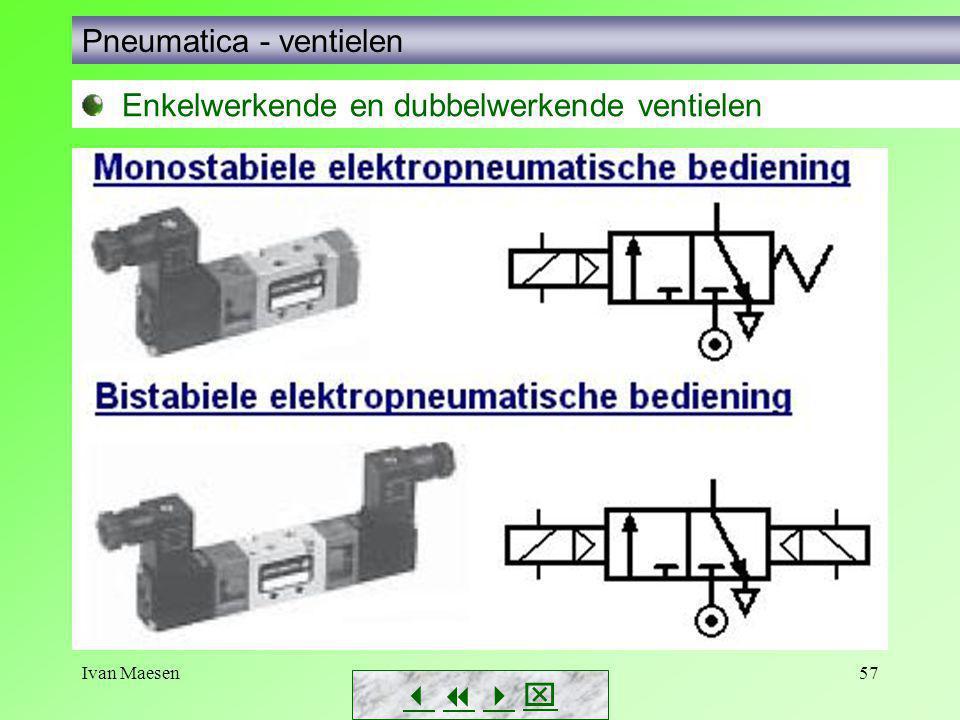 Ivan Maesen57        Pneumatica - ventielen Enkelwerkende en dubbelwerkende ventielen