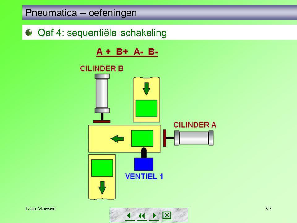 Ivan Maesen93        Pneumatica – oefeningen Oef 4: sequentiële schakeling
