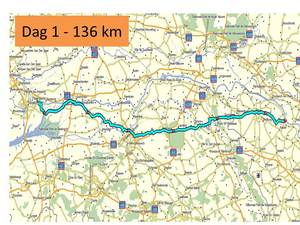 Dag 1 - 136 km