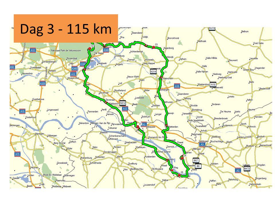Dag 3 - 115 km