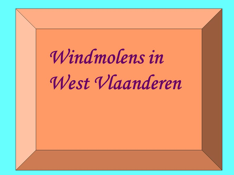Windmolens in West Vlaanderen