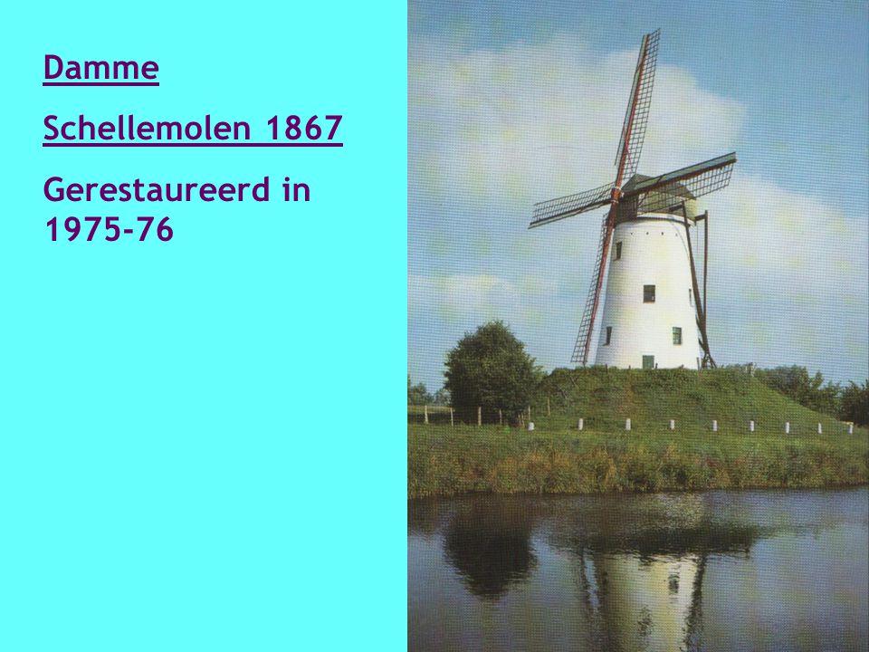 Brugge Bonte Chieremolen 1844 Oorspronkelijk uit Olsene en in 1911 op de kruisvesten herbouwd