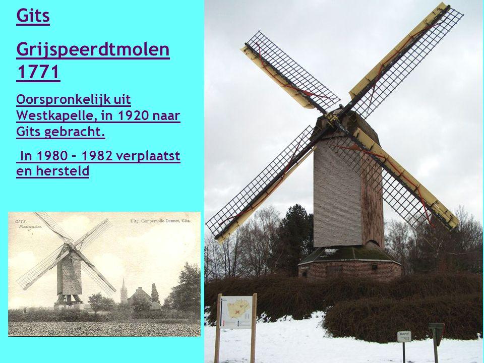 Gistel - Oostmolen – 14 e eeuw Gerestaureerd in 1979 -1982 na Uitgebrand in 1977.