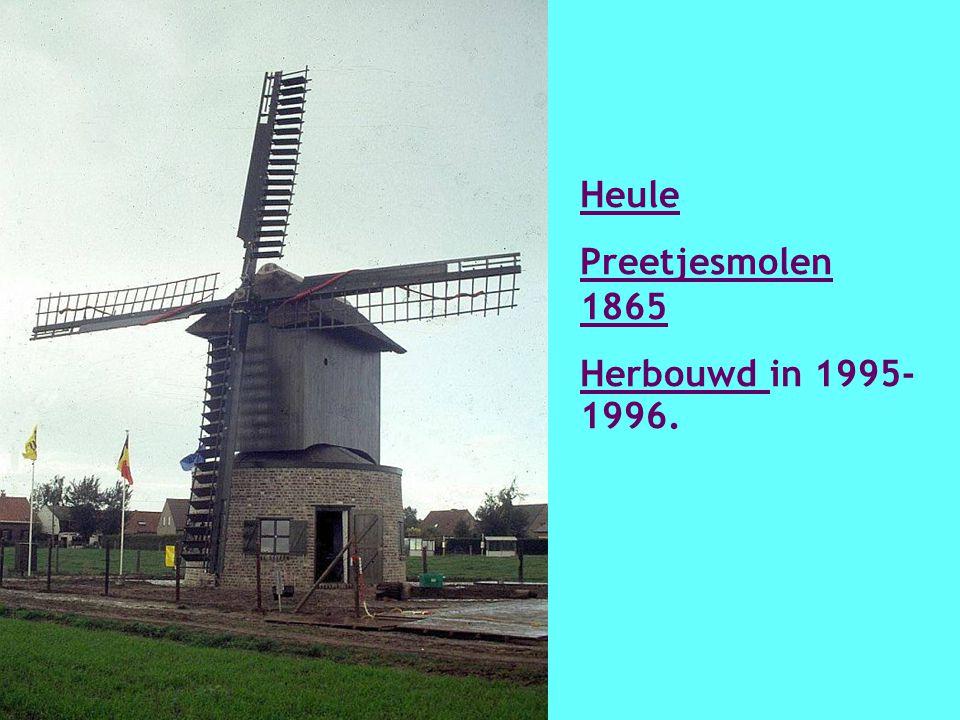 Harelbele Koutermolen (18 e eeuw) Herbouwd in 1982-1984.