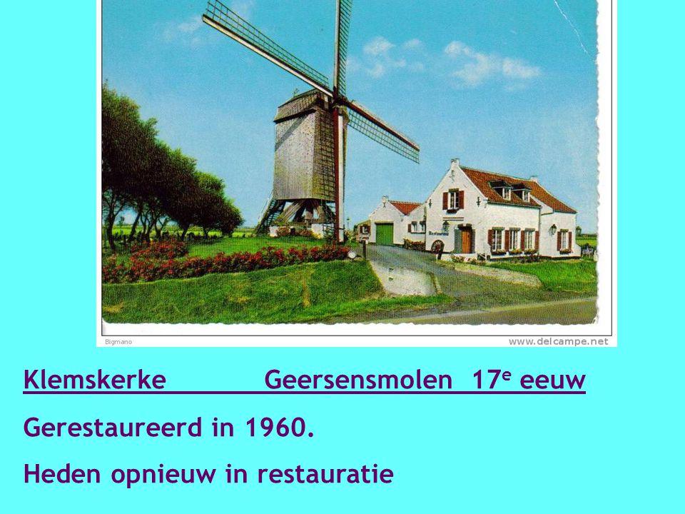 Kanegem Mevrouwmolen 1844 Vernieuwd in 2005