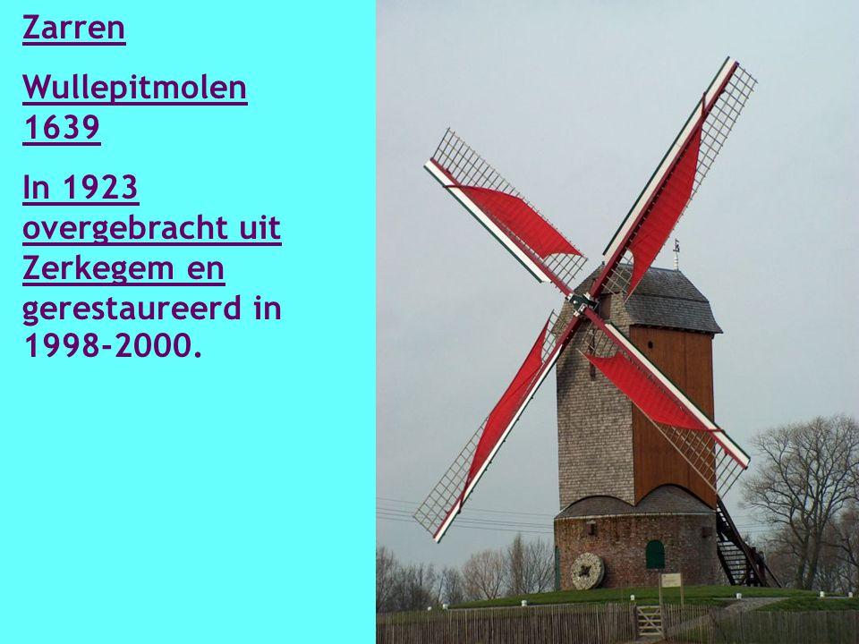 Zarren Couchezmolen 1870 Gerestaureerd in 2002-2003 en na breuk in 2004, in 2006 opnieuw hersteld