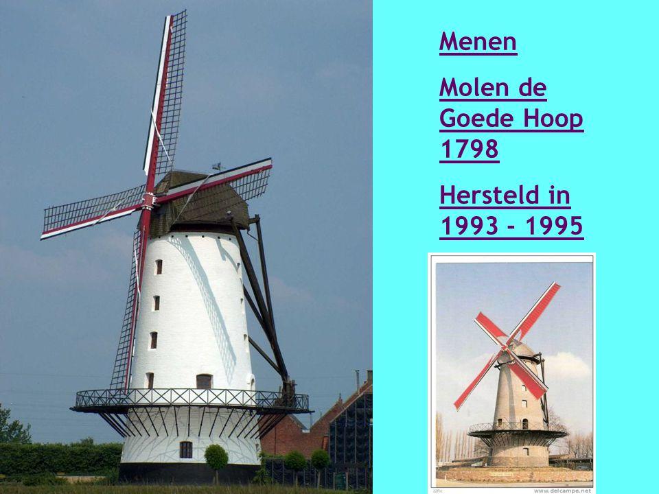 Marke Vannestes molen (molen Glorieux) 1840 Herbouwd in 1984 - 1990