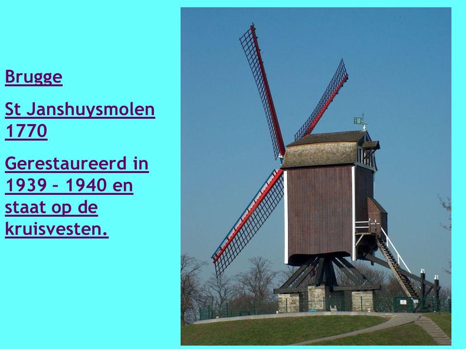 Oost Vleteren Demeestersmolen 1746 Komt uit Gyverinckhove en in 1973 – 1974 verplaatst.