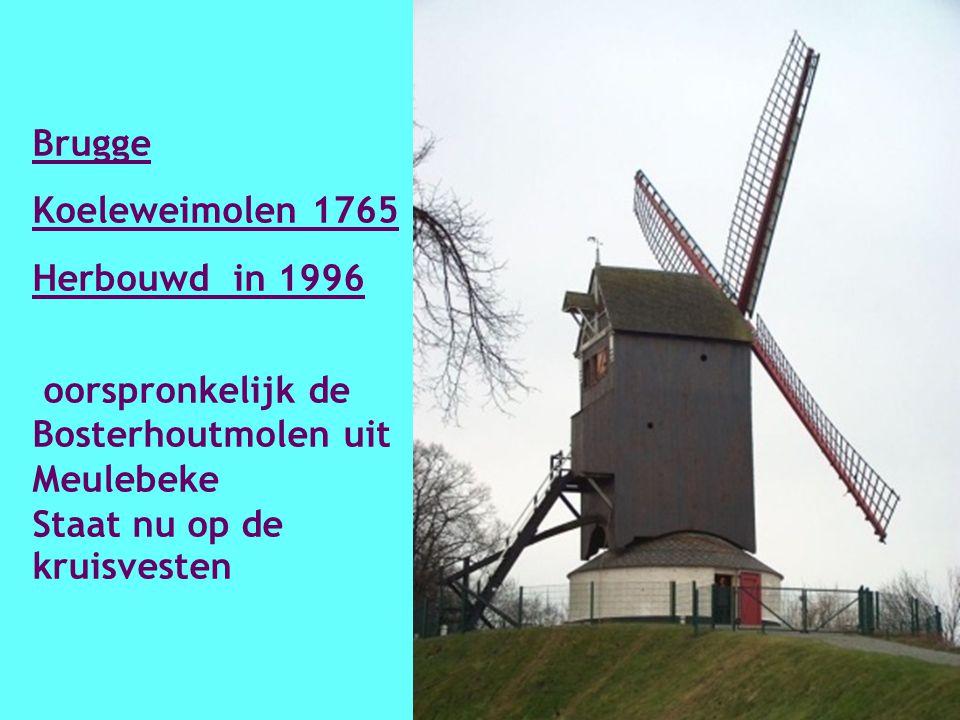 Brugge St Janshuysmolen 1770 Gerestaureerd in 1939 – 1940 en staat op de kruisvesten.