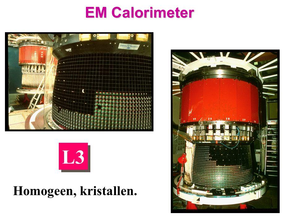 L3 EM Calorimeter Homogeen, kristallen.