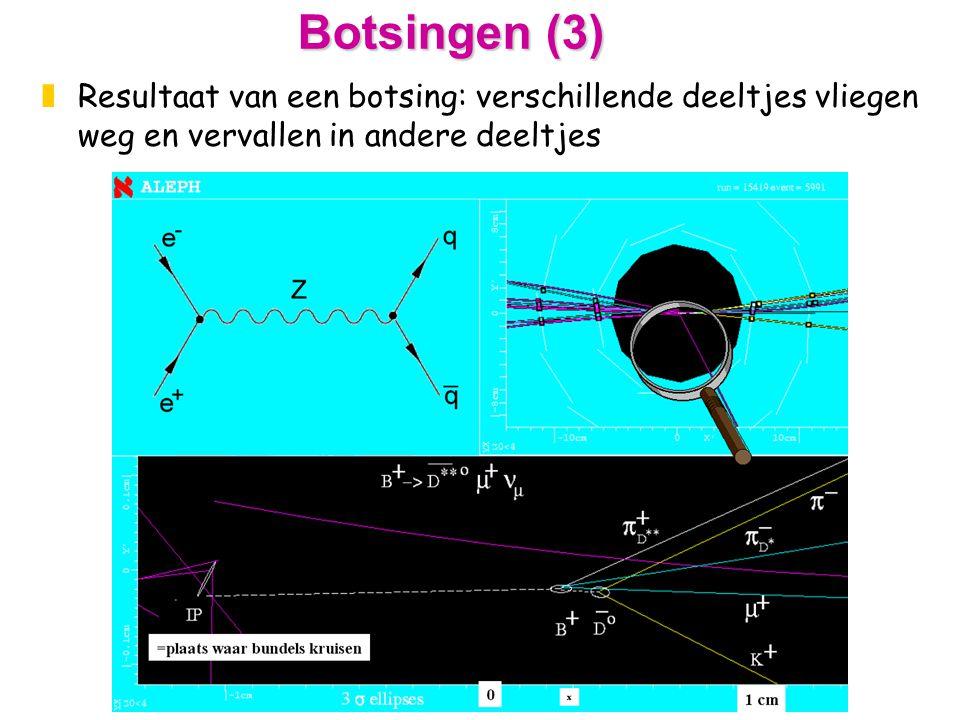 Hoe kun je secundaire deeltjes meten.homogene calorimeters, zoals kristalcalorimeters z2.