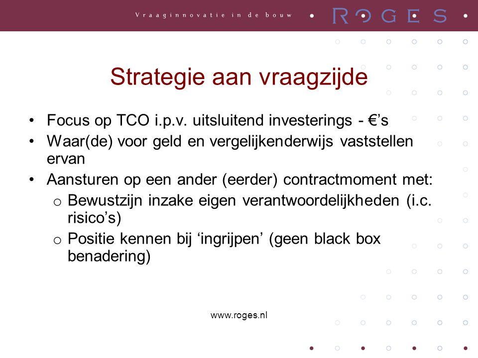 Strategie aan vraagzijde Focus op TCO i.p.v.