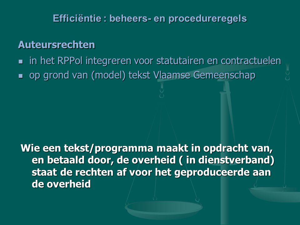 Auteursrechten in het RPPol integreren voor statutairen en contractuelen in het RPPol integreren voor statutairen en contractuelen op grond van (model