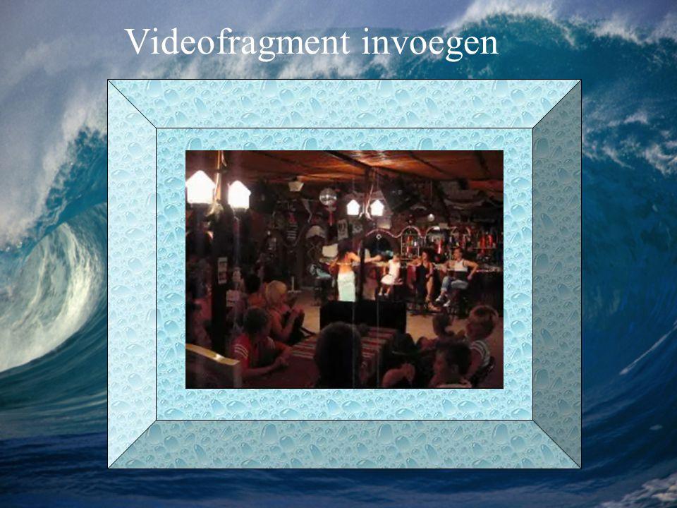 Videofragment invoegen