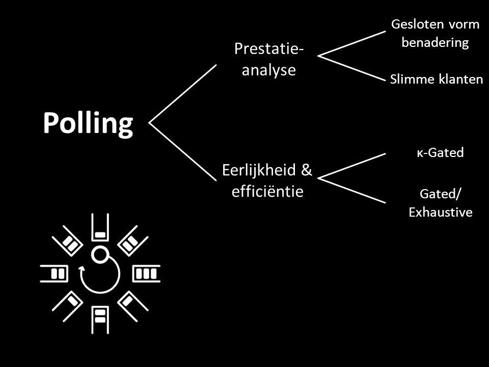Eerlijkheid & efficiëntie Prestatie- analyse Slimme klanten Gesloten vorm benadering κ-Gated Gated/ Exhaustive