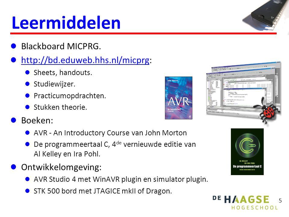 5 Leermiddelen Blackboard MICPRG.