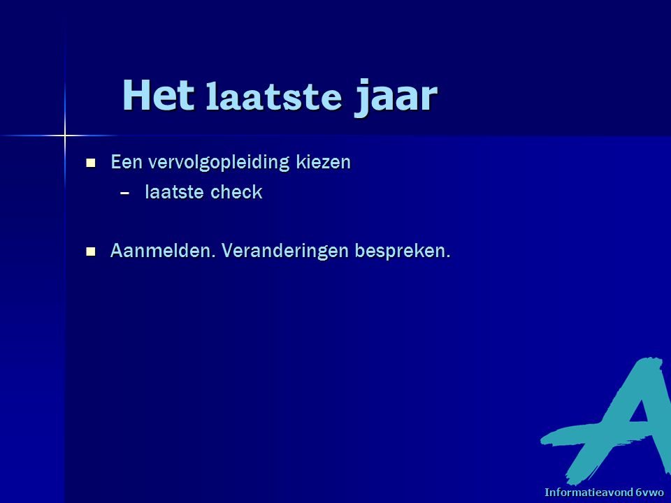 Vervolgopleidingen bron www.schoolvo.nl