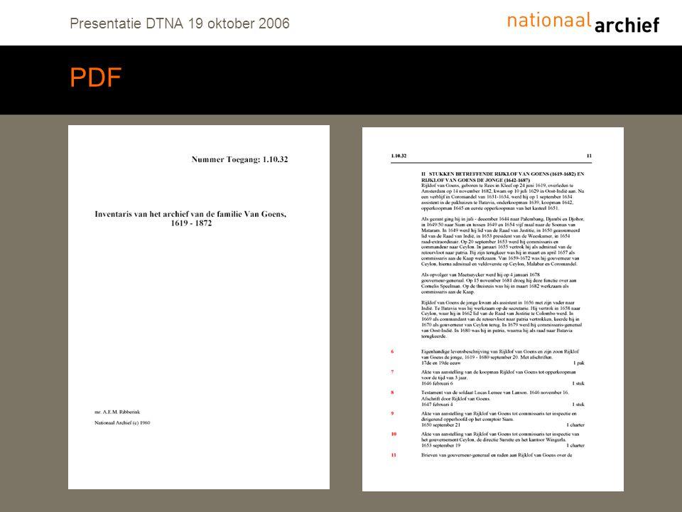 Presentatie DTNA 19 oktober 2006 PDF