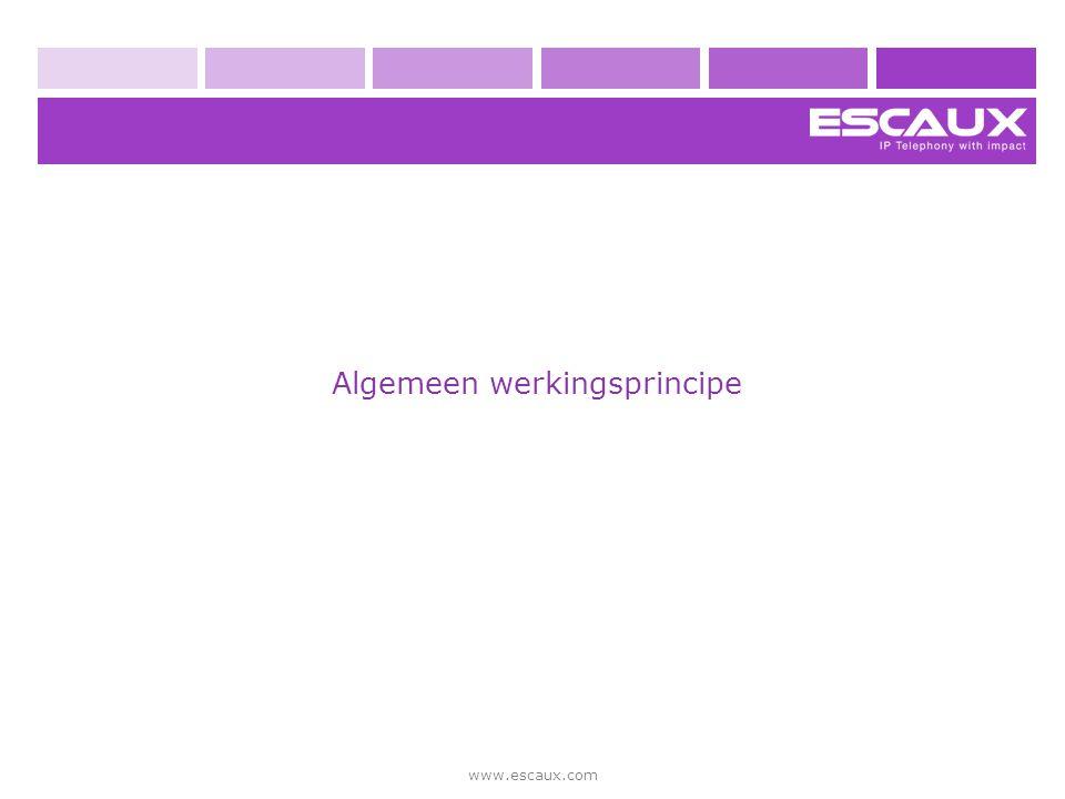 www.escaux.com Uw werkplek net.Console web applicatie SNOM 320 telefoon hoofdtelefoon (optioneel)