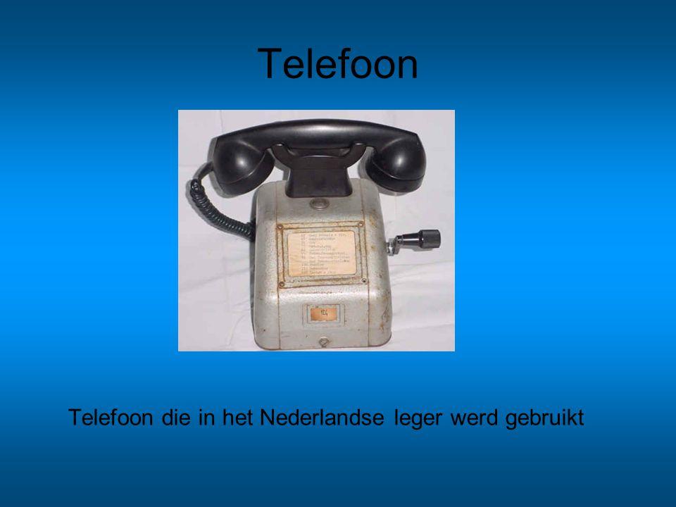Telefoon Telefoon die in het Nederlandse leger werd gebruikt