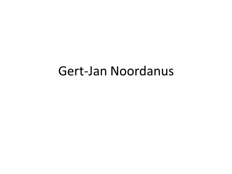 Gert-Jan Noordanus