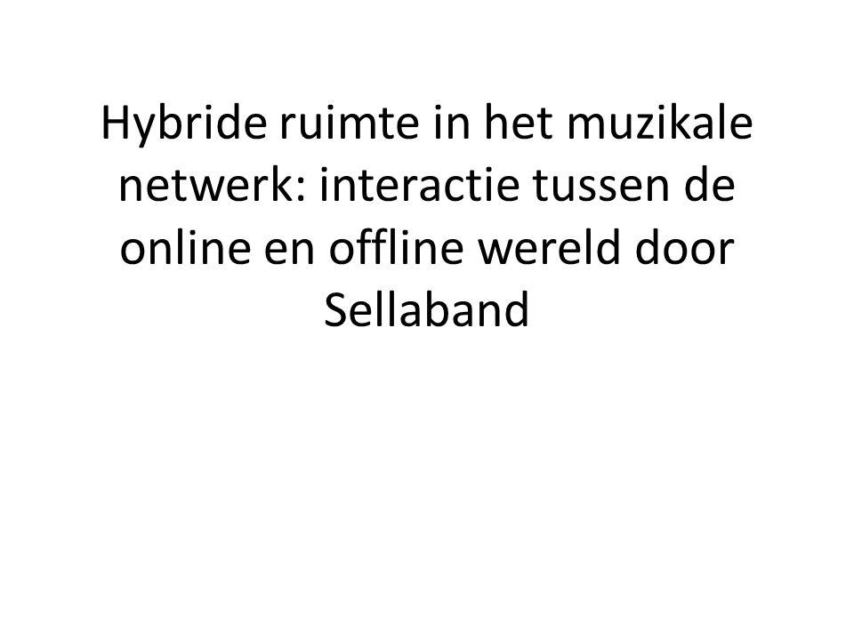 Hybride ruimte in het muzikale netwerk: interactie tussen de online en offline wereld door Sellaband