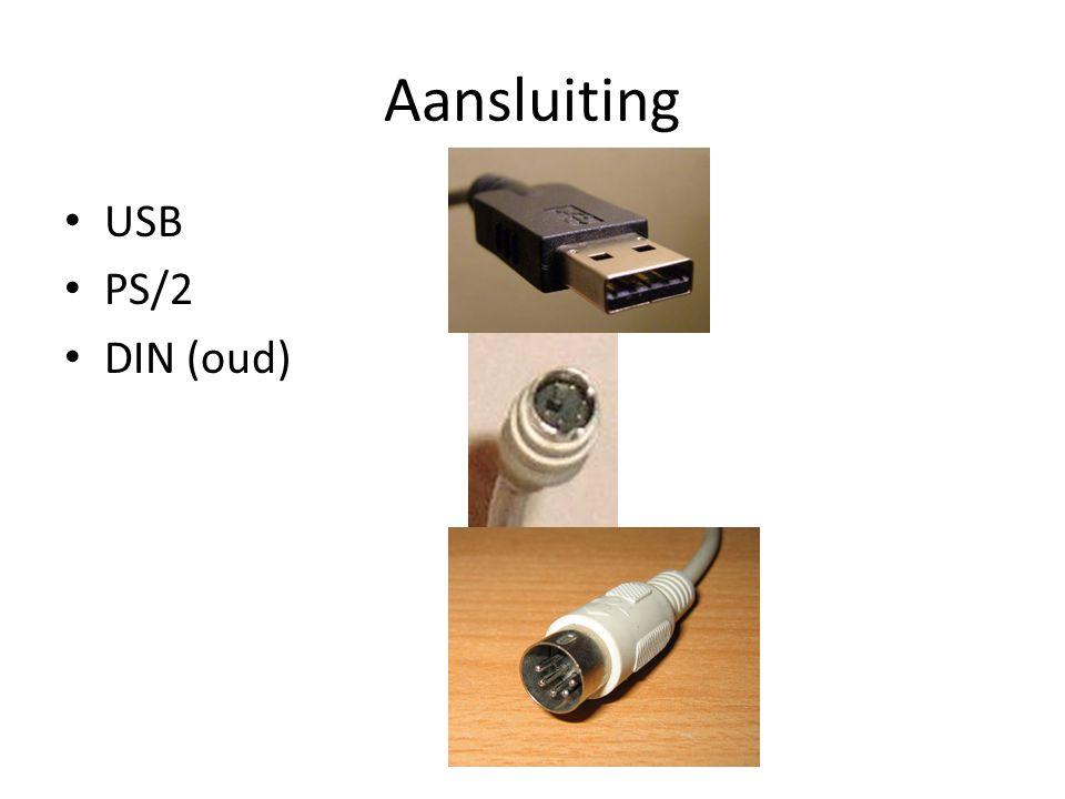 Aansluiting USB PS/2 DIN (oud)