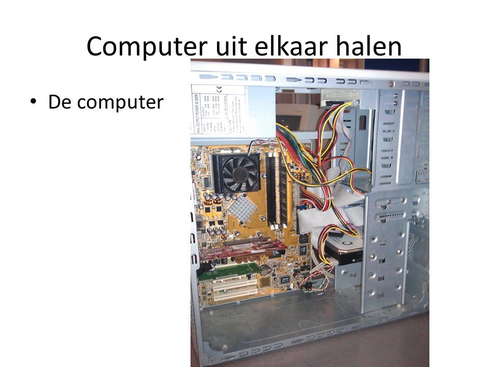 Computer uit elkaar halen De computer