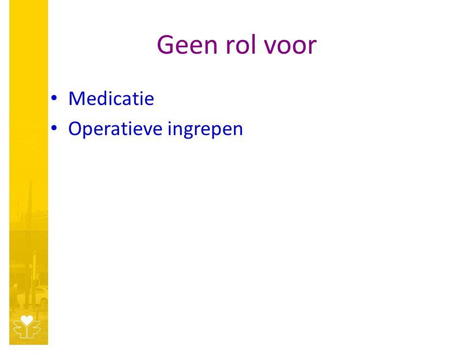 Geen rol voor Medicatie Operatieve ingrepen