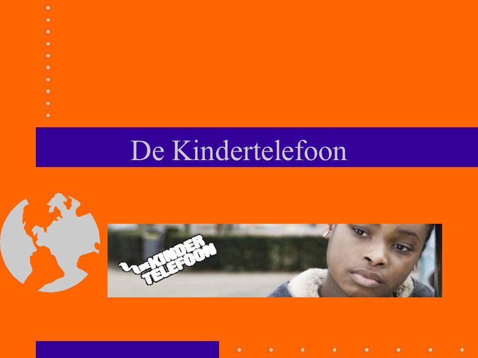 Basis structuur Kindertelefoon 'Management BJZ' 18 locaties Kindertelefoon (wereldwijd in 136 landen childhelplines) > 800 vrijwilligers landelijk