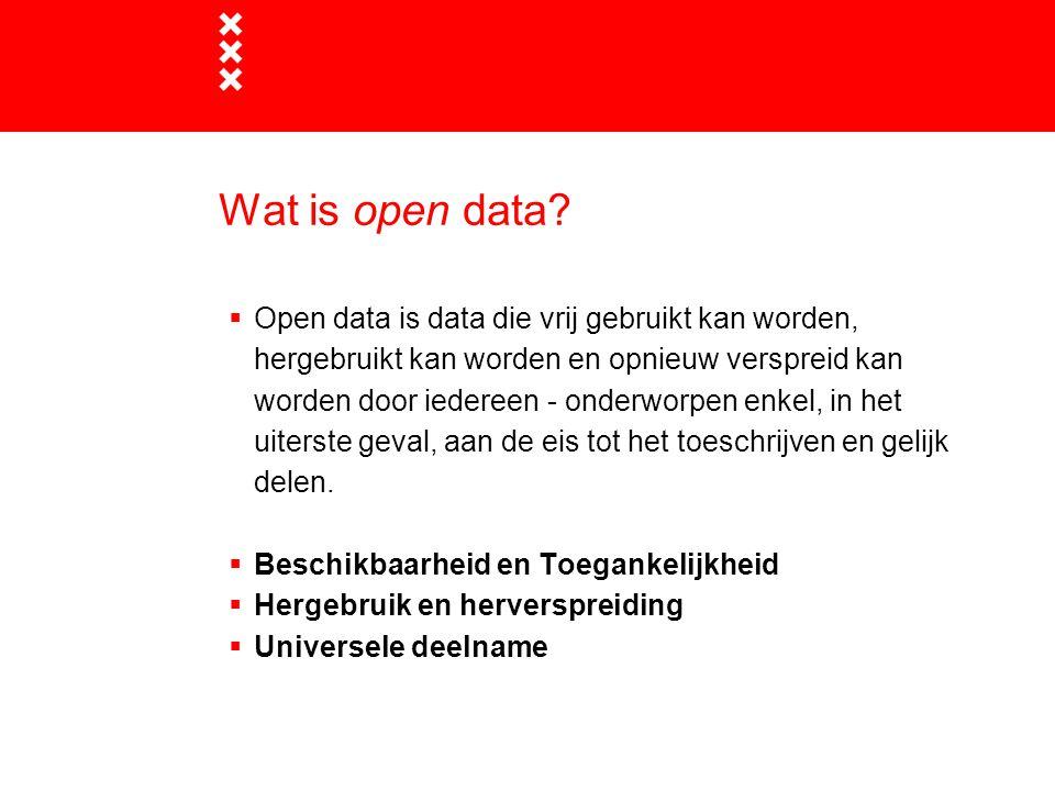 Wat is open data.