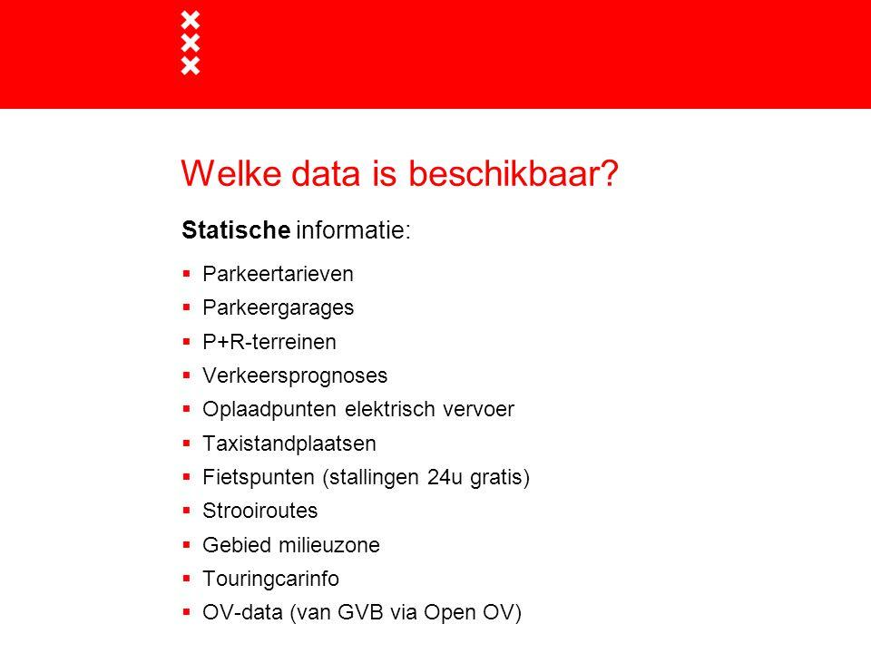 Welke data is beschikbaar.