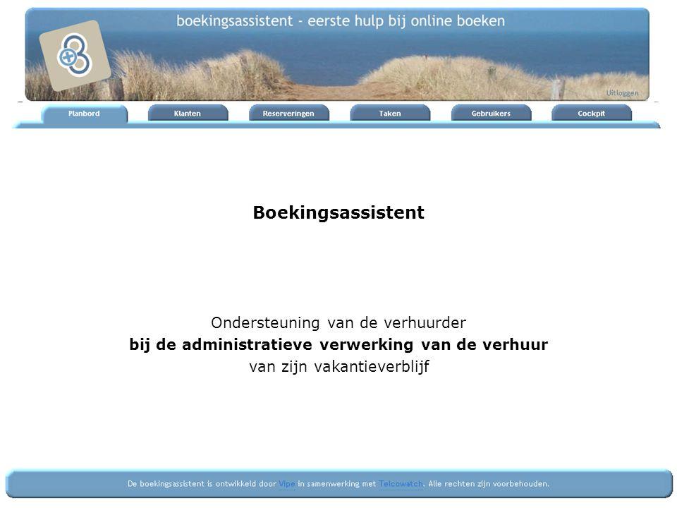 Afhandeling eventueel borg terugstorten reservering archiveren registratie gegevens voor afdracht toeristenbelasting
