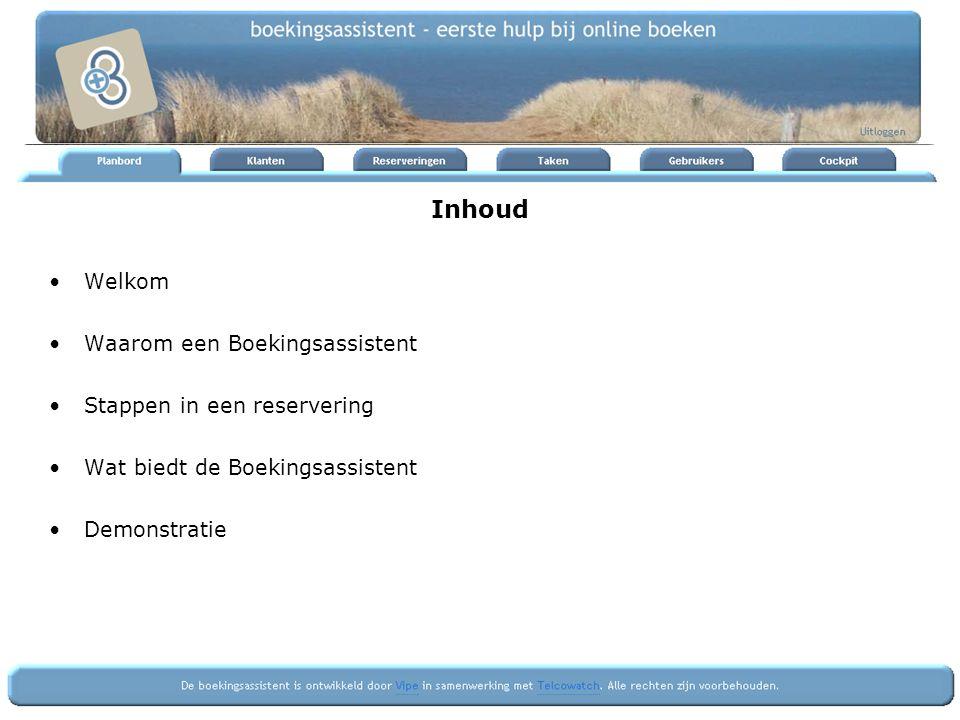 Waarom een boekingsassistent de website zoals www.op-Ameland.nl ondersteunt het wervingsproces –reclame, presentatie, informatie, zoeken, selectie, aanvragen –d.m.v.