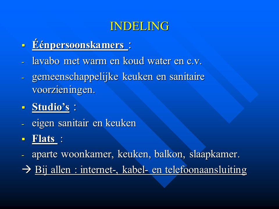 FINANCIËLE HULPVERLENING Voorschotten op studiefinanciering van de Vlaamse Gemeenschap: na voorlegging van de inkomstenbewijzen.
