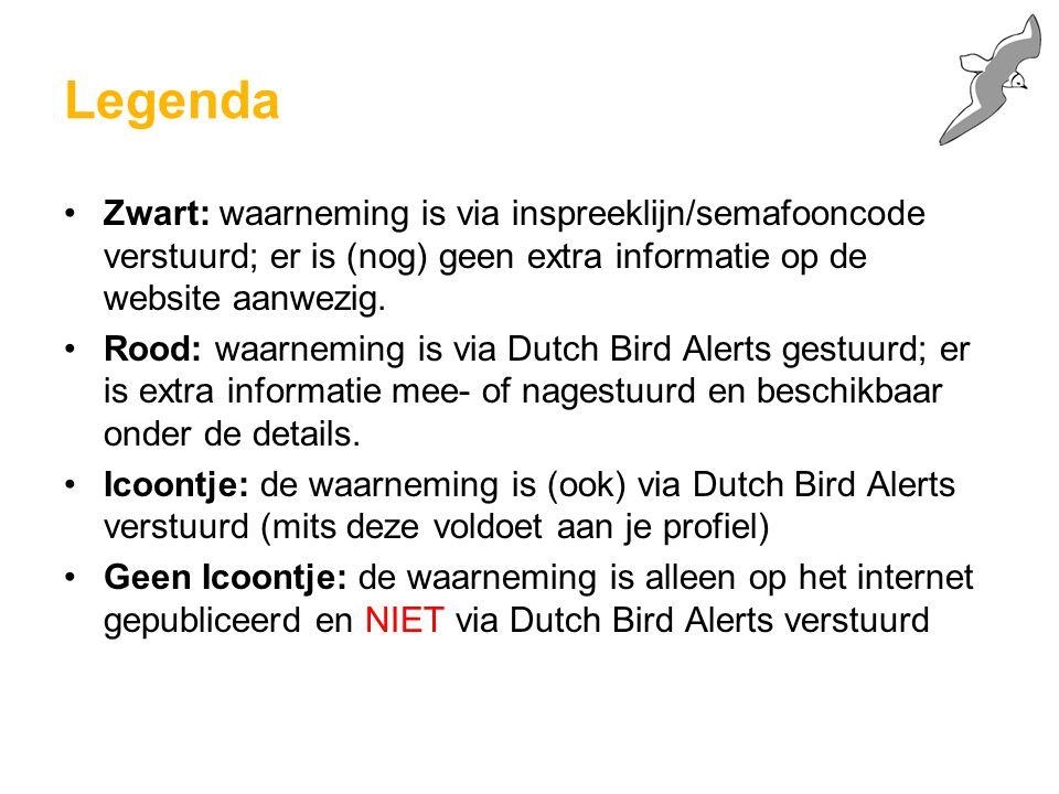 Controleer gegevens: <= 1)Klik op terug als je de gegevens wilt verbeteren 2)Klik op opslaan om alleen op internet te publiceren 3)Klik op 'verzenden' om het bericht via het Dutch Bird Alert systeem te versturen