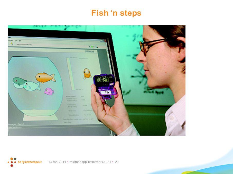 13 mei 2011 telefoonapplicatie voor COPD 23 Fish 'n steps