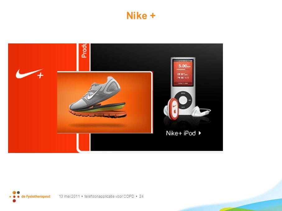 13 mei 2011 telefoonapplicatie voor COPD 24 Nike +