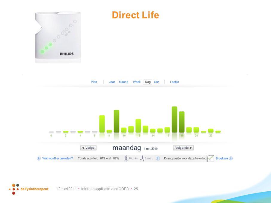 13 mei 2011 telefoonapplicatie voor COPD 25 Direct Life