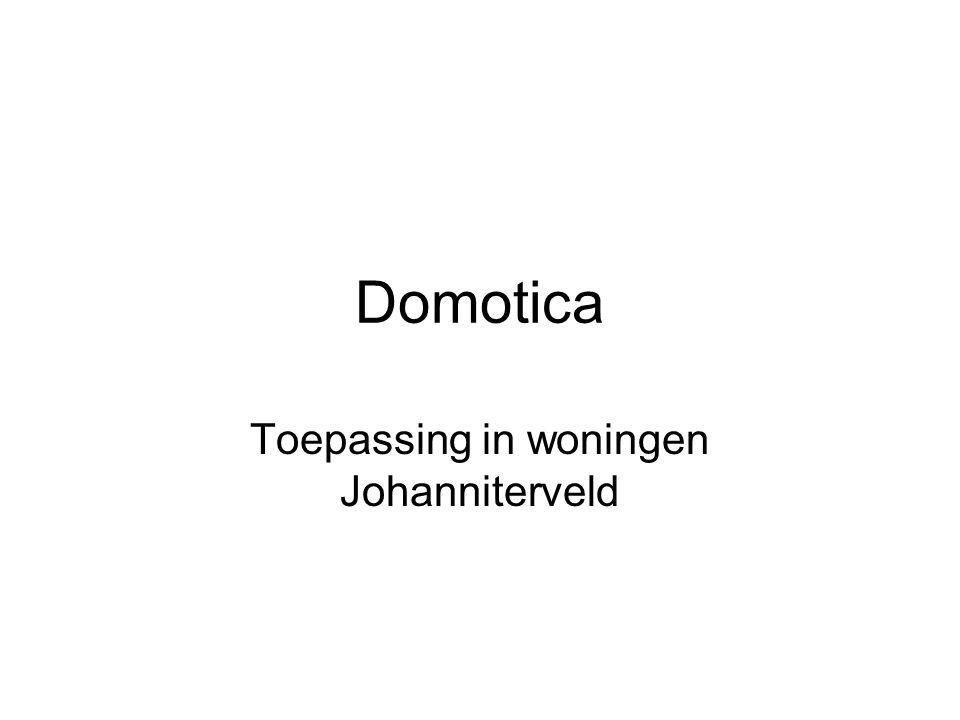 Domotica Toepassing in woningen Johanniterveld