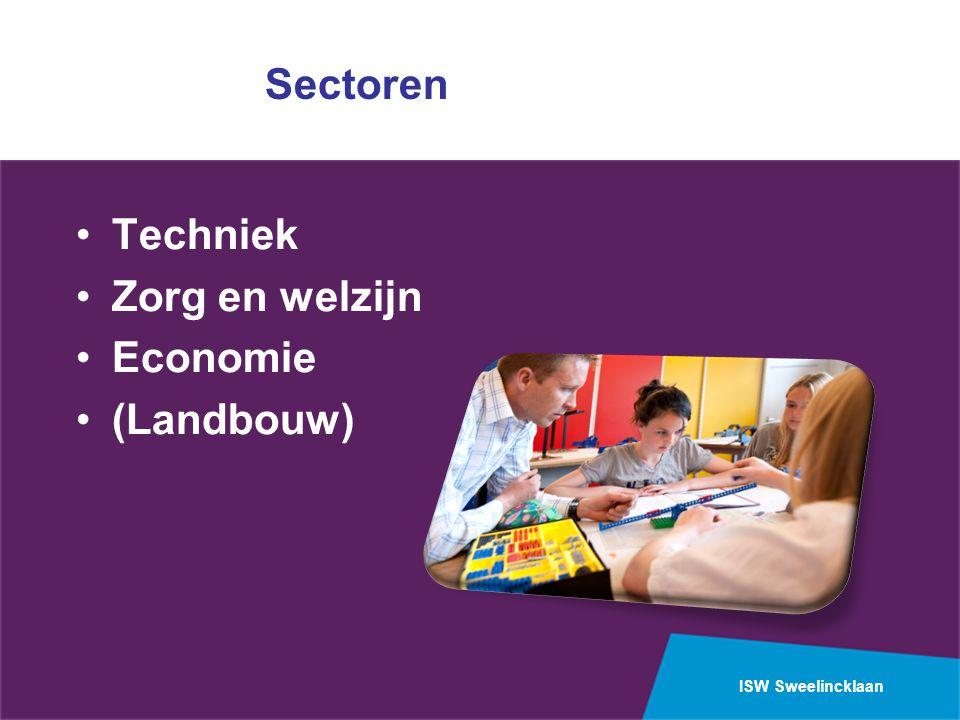 ISW Sweelincklaan Sectoren Techniek Zorg en welzijn Economie (Landbouw)