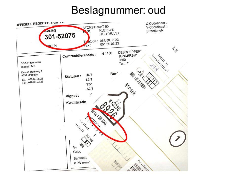 Beslagnummer: nieuw BE30152075 = Inrichtingnummer BE30152075-0101 BE30152075-0201