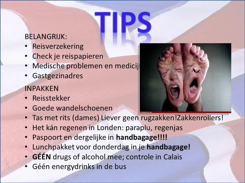 BELANGRIJK: Reisverzekering Check je reispapieren Medische problemen en medicijnen Gastgezinadres INPAKKEN Reisstekker Goede wandelschoenen Tas met ri