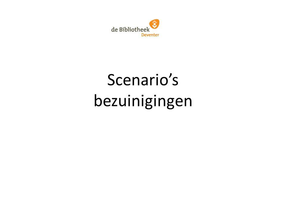 Scenario's bezuinigingen