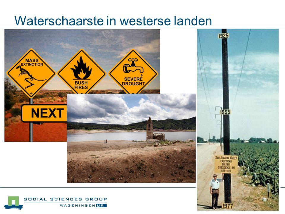 Waterschaarste in westerse landen