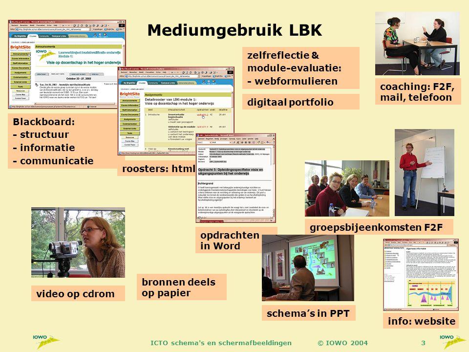 © IOWO 2004ICTO schema s en schermafbeeldingen54 Module 1: Intr.